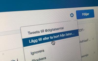 Listor skapar ordning i twitterflödet