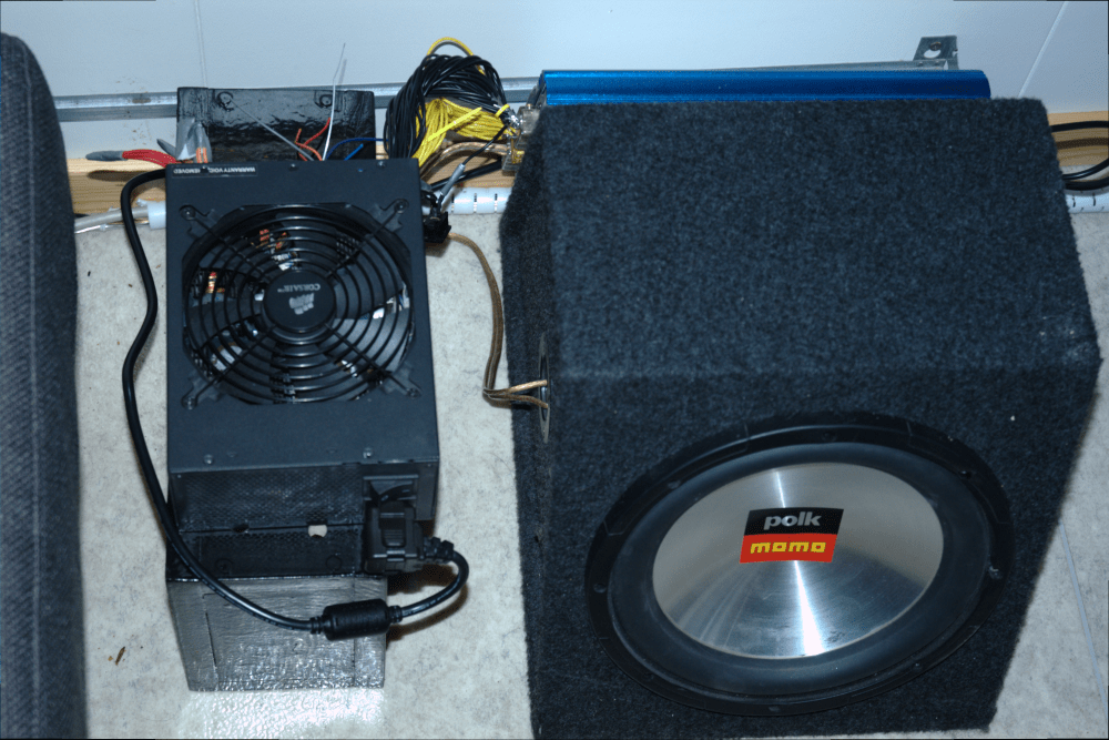medium resolution of diy subwoofer amplifier power supply from an old atx home theater subwoofer speaker wire