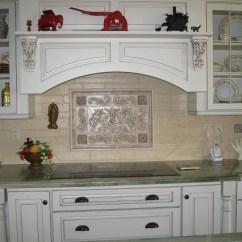 Kitchen Backsplash Tile Country Cottage Designs Hand Pressed Floral Tiles Installed In