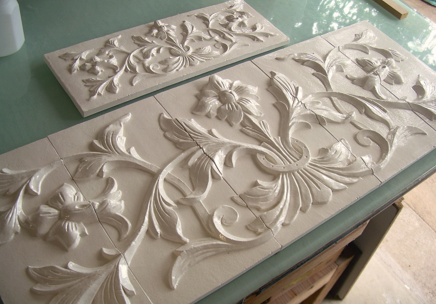 Large Hand Pressed Decorative Tiles By Andersen Ceramics