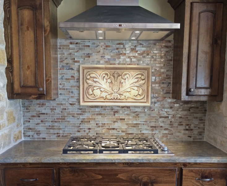 kitchen tile murals unfinished oak cabinets home depot installations - andersen ceramics