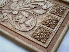 small relief tiles stone insert