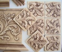 Small relief tiles, stone insert designs, kitchen ...