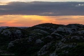 Solnedgang i Hordaland Norge