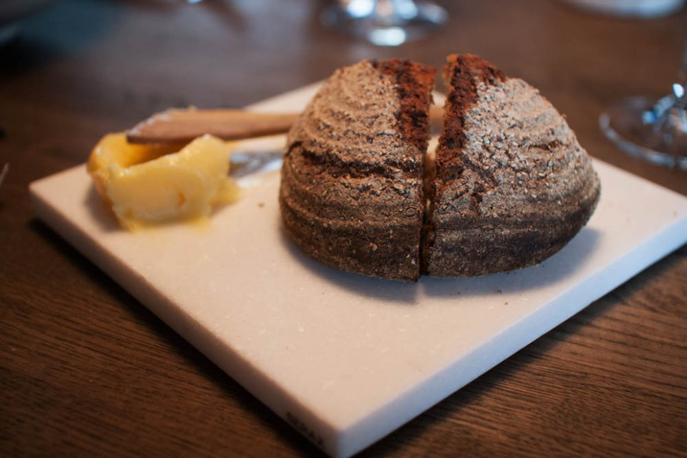 The bread serving: Rye and spelt bread. Butter from Røros. Simple.