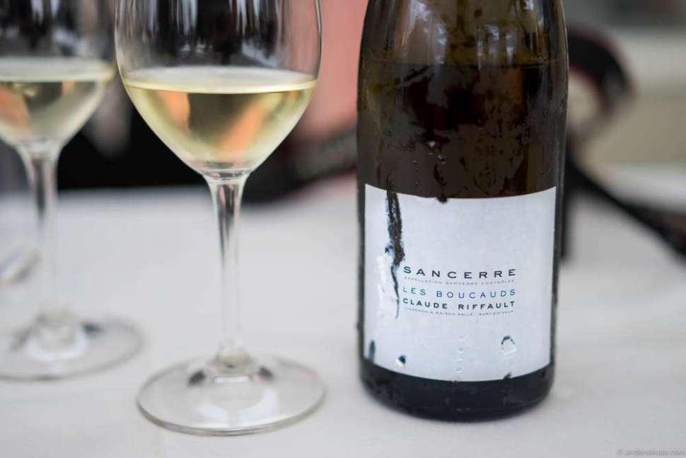 The second white wine, richer and more complex, a Claude Riffault Sancerre Les Boucauds