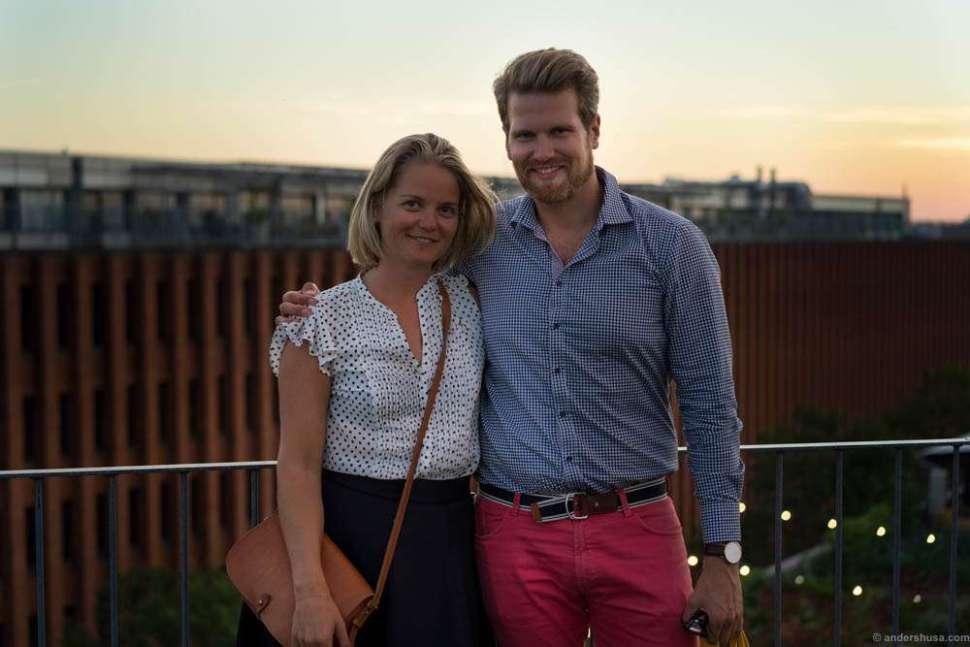 Linn (Vinstudinen) and I posing at the rooftop.