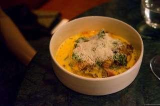 Veal, lettuce, chorizo, carrot & olive