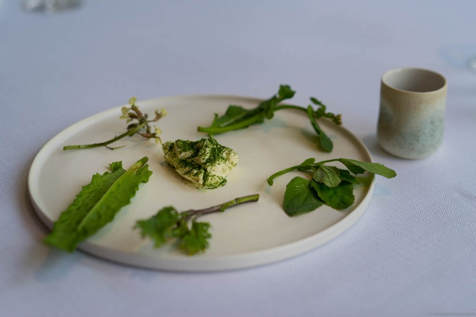 Vegetables from Søren Wiuff with 50% cream and lemon.