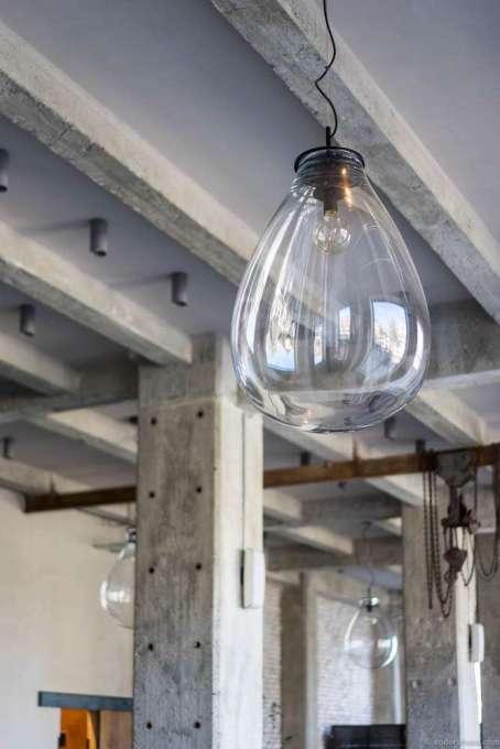 Loving these huge hand-blown bulbs to encapsule the light bulbs
