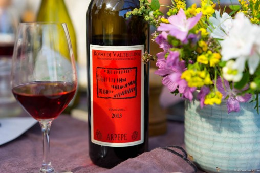 Rosso di Valtellina. Easy to drink, but still a good match for food