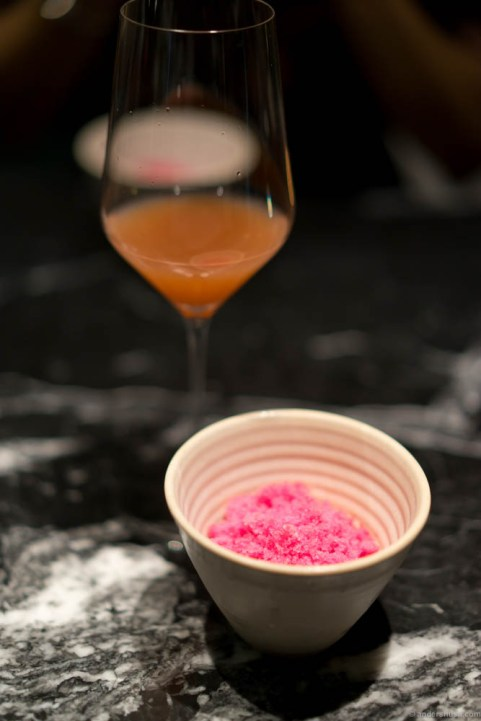 Biodynamic raspberries, verbena & oxalis