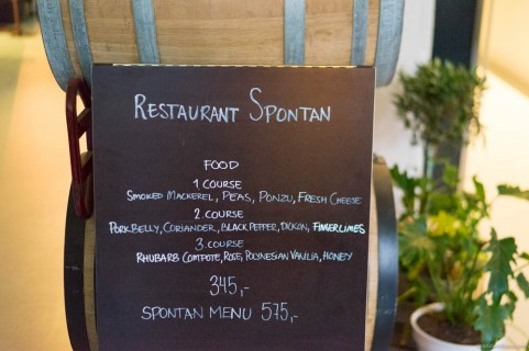 Choose between a three-course or a five-course dinner at Restaurant Spontan