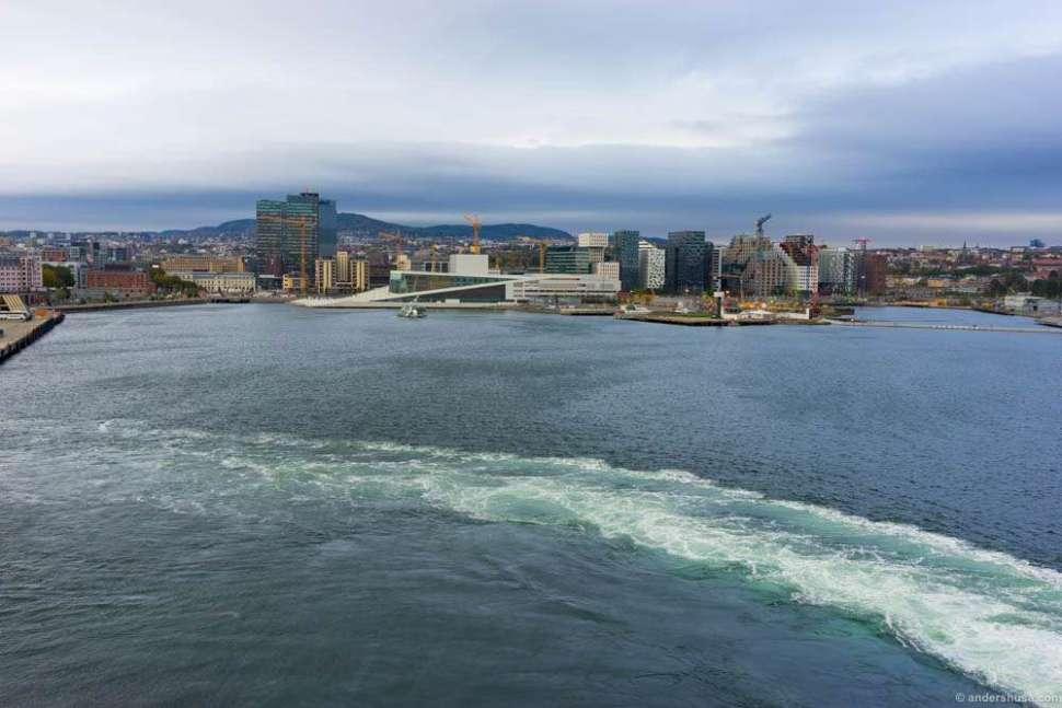 Goodbye, Oslo. Heading for Copenhagen