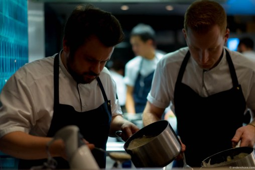 Concentrated chefs at work