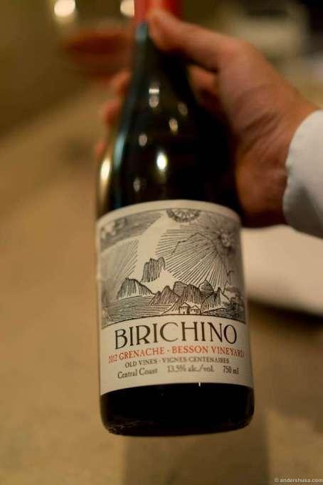 """2012 Birichino, Grenache """"Besson Vineyard,"""" Central Coast"""