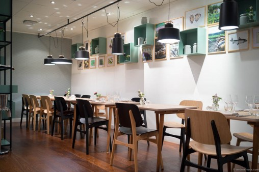 The dining room at Bhoga