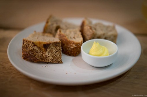 Organic sourdough bread from Martin at Bygdøy. Røros butter