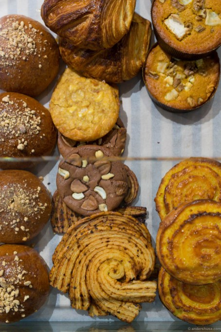 The selection of Asian inspired baked goods