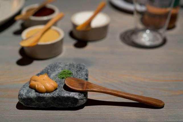 Caviar and lovage salt