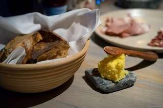 Fäviken's slightly burnt sourdough bread and butter