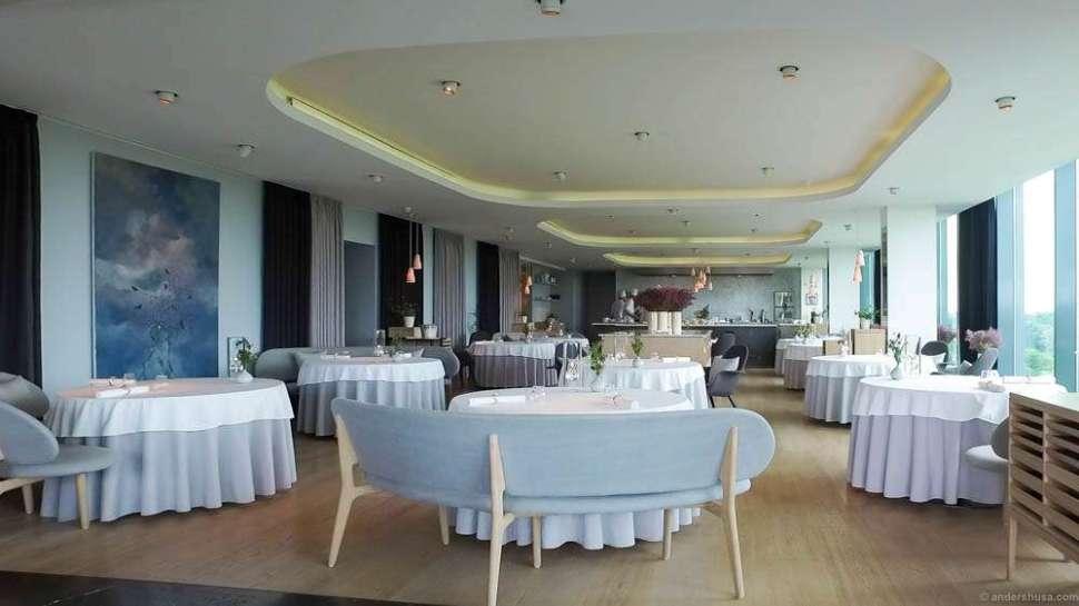 The newly refurbished main dining room of Geranium