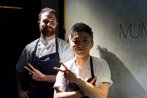 The chefs! Kai Ward and Richie Lin