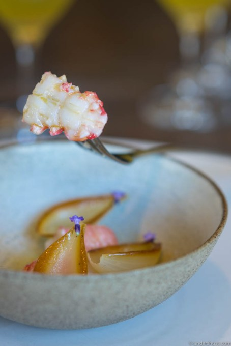 Delectable pieces of langoustine tail