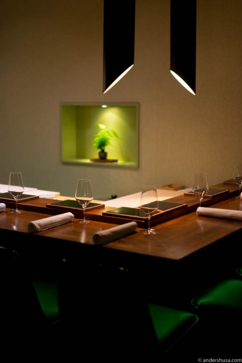 The 9-seat sushi bar