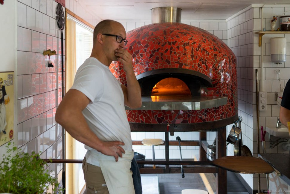 Ville Ilola is pondering about how to improve the next pizza even further