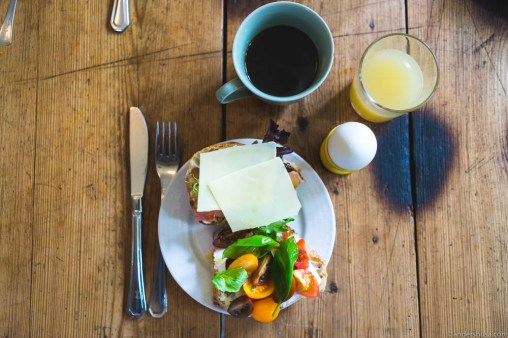 All organic breakfast