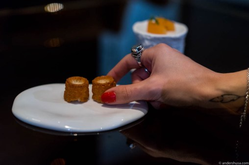 Cheese canelé with Etivaz cheese from Switzerland