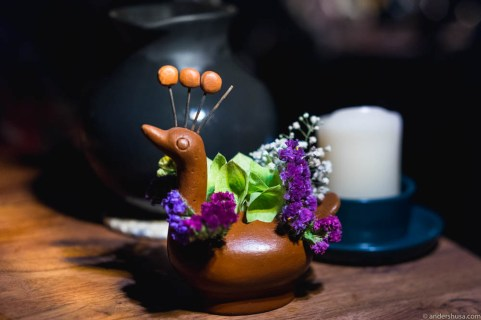 Table decorations at Noma Mexico