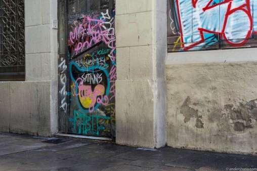 Street art outside Satan's