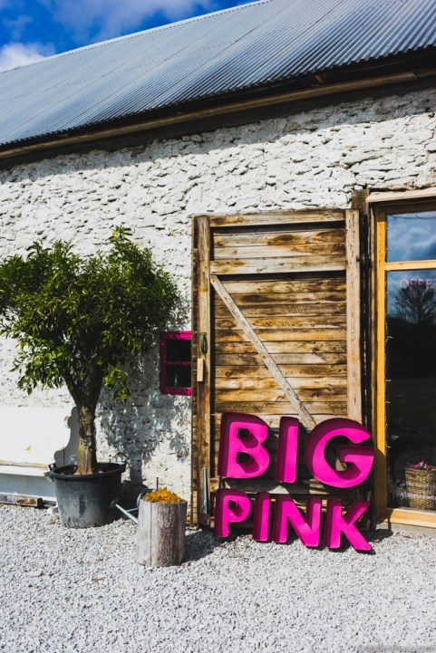 Big Pink glass studio on Gotland