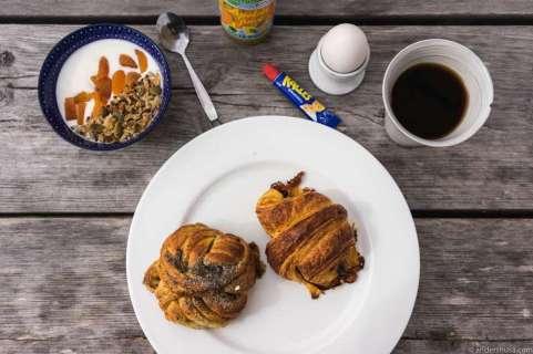 Breakfast deal at Själsö Bageri: SEK 99,-