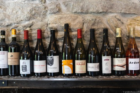 The natural wine selection. I spot many favorites