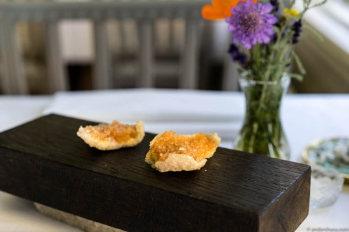 Potato chips with catfish roe