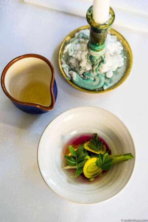 Seasonal vegetables & dashi