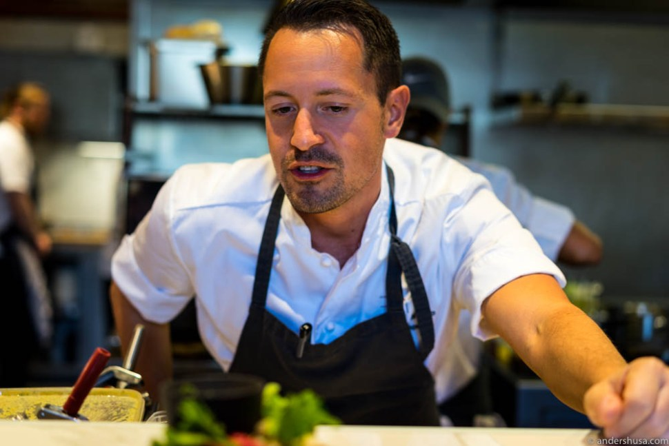 Head chef and co-owner, Sebastian Myhre.