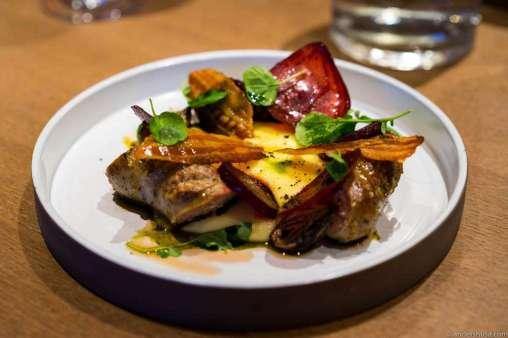 Brennende Kjærlighet – Burning Love. Lamb sausage, truffle, bacon, onions, pickled beets & potato purée