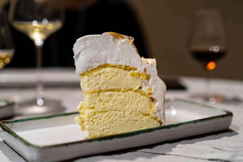 Vanilla meringue layered cake