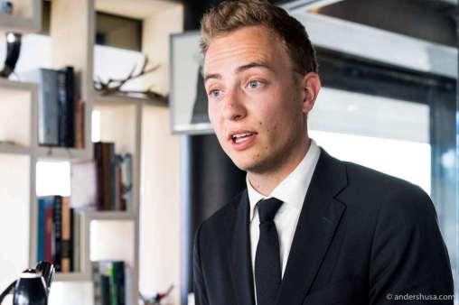 Restaurant manager Benjamin Ausland