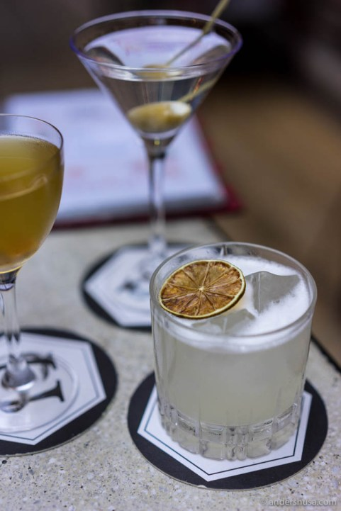 Brunost, birch, and seaweed cocktails.