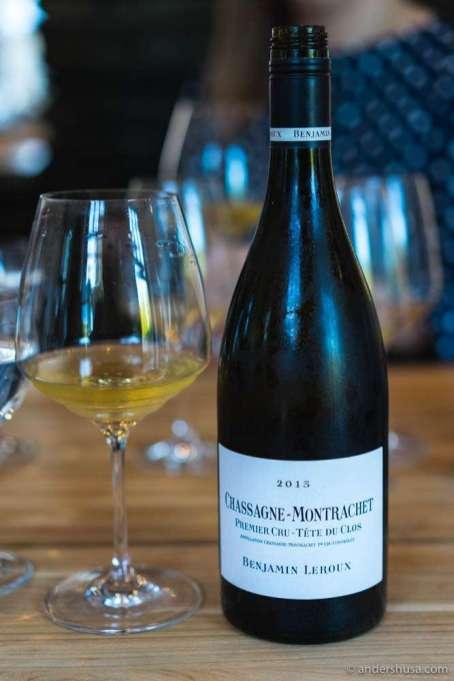 """2013 Chassagne-Montrachet Blanc 1er Cru """"Tête du Clos"""", Benjamin Leroux"""