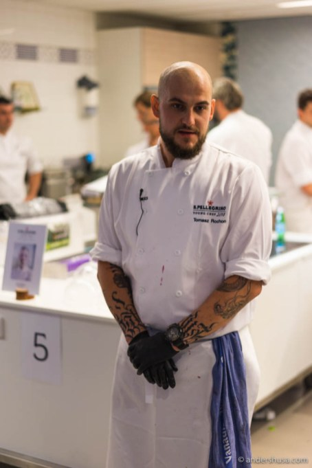A nervous Tomasz Rochon awaiting the judges first impression