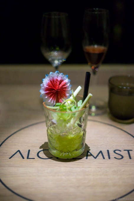 Avocado and lime cocktail