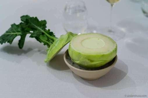 Inside the kohlrabi: green apple & oyster from Limfjorden