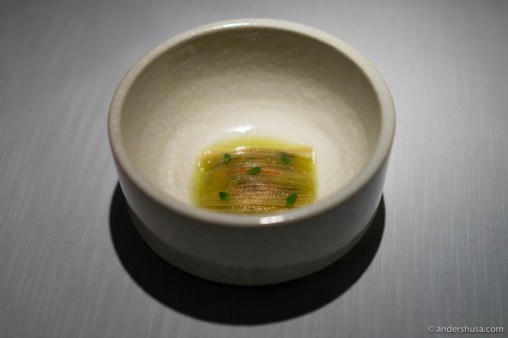 Fermented rhubarb and mussels