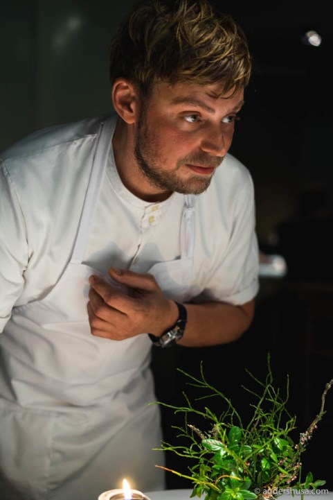 Chef Nicolai Nørregaard from restaurant Kadeau in Copenhagen